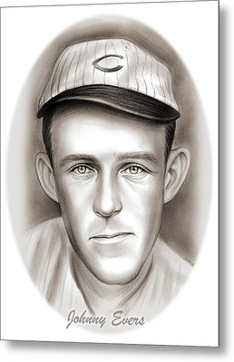 Johnny Evers Metal Print by Greg Joens