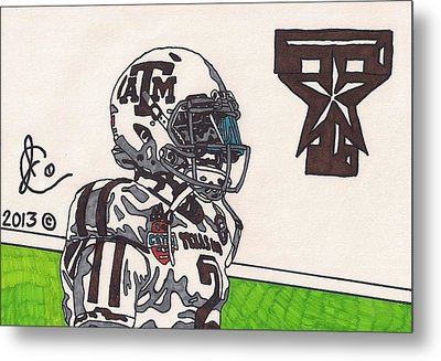 Johnny Manziel 13 Metal Print by Jeremiah Colley