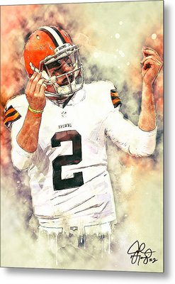 Johnny Manziel Metal Print by Taylan Apukovska