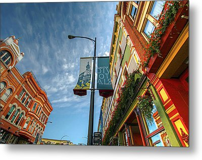 Johnson Street In Victoria B.c. Metal Print by David Gn