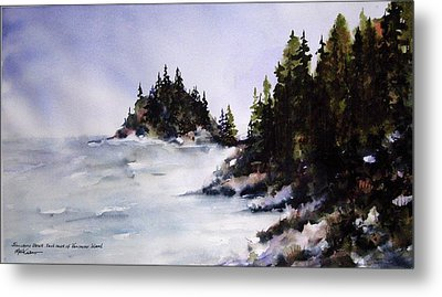 Metal Print featuring the painting Johnstone Strait by Marti Green