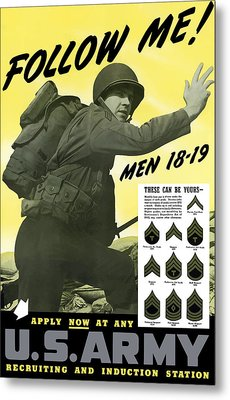 Join The Us Army  Metal Print by War Is Hell Store