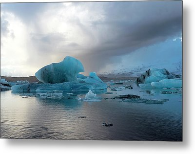 Metal Print featuring the photograph Jokulsarlon, The Glacier Lagoon, Iceland 4 by Dubi Roman