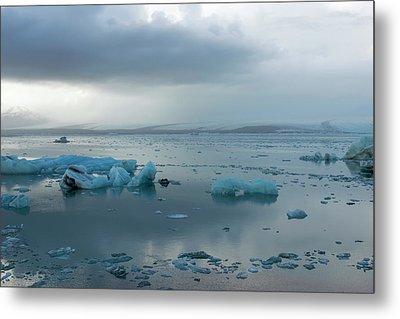 Metal Print featuring the photograph Jokulsarlon, The Glacier Lagoon, Iceland 1 by Dubi Roman