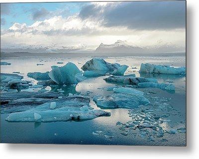 Metal Print featuring the photograph Jokulsarlon, The Glacier Lagoon, Iceland 6 by Dubi Roman
