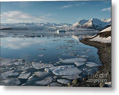 Metal Print featuring the photograph Jokulsarlon Ice Lagoon - Iceland by Sandra Bronstein