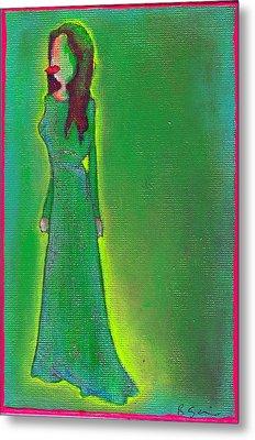Jolie Green Metal Print