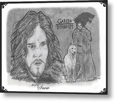 Jon Snow Metal Print by Chris  DelVecchio