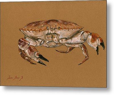 Jonah Crab Metal Print by Juan  Bosco