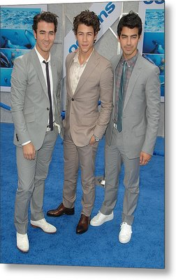 Jonas Brothers, Kevin Jonas, Nick Metal Print by Everett