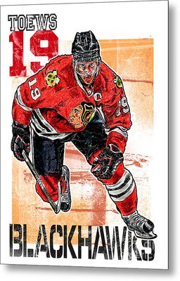 Jonathan Toews Metal Print by Maria Arango