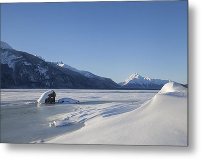 Jones Point In Winter Metal Print