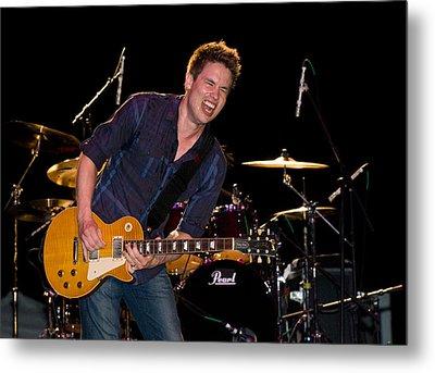 Jonny Lang Rocks His 1958 Les Paul Gibson Guitar Metal Print
