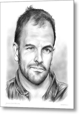 Jonny Lee Miller Metal Print by Greg Joens