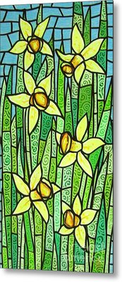 Metal Print featuring the painting Jonquil Glory by Jim Harris