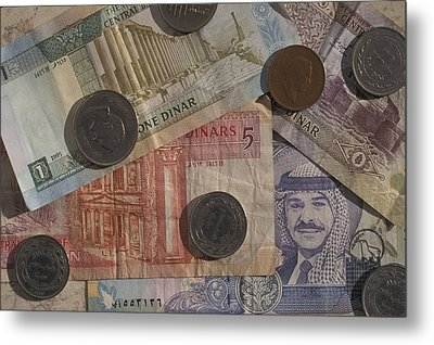 Jordan Currency Metal Print by Richard Nowitz