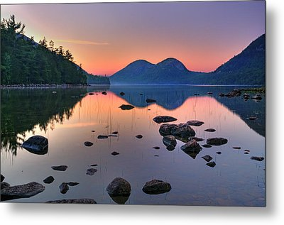 Jordan Pond At Sunset Metal Print by Expressive Landscapes Fine Art Photography by Thom