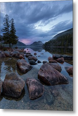 Metal Print featuring the photograph Jordan Pond Sunset  by Patrick Downey