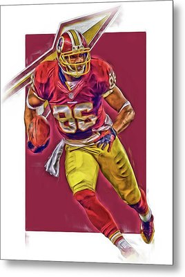 Jordan Reed Washington Redskins Oil Art Metal Print by Joe Hamilton
