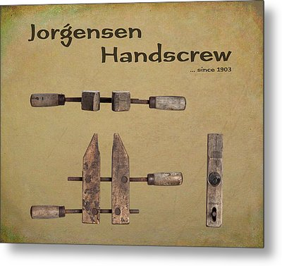 Jorgensen Handscrew Metal Print by Tom Mc Nemar