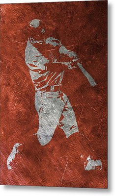 Jose Altuve Houston Astros Art Metal Print