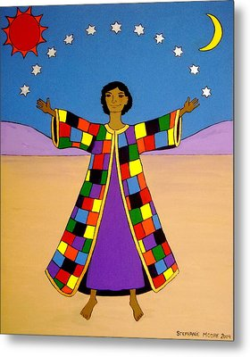 Joseph And His Coat Of Many Colours Metal Print by Stephanie Moore