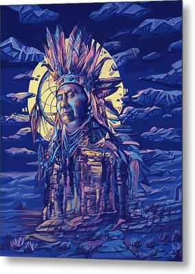 Joseph Nez Perce Decorative Portrait 2 Metal Print