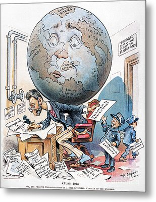 Joseph Pulitzer Cartoon Metal Print by Granger