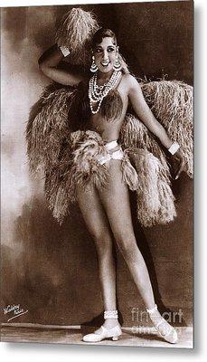 Josephine Baker Circa 1927  Metal Print