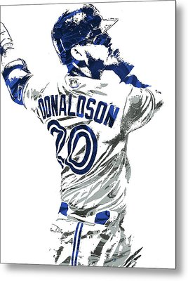 Josh Donaldson Toronto Blue Jays Pixel Art Metal Print by Joe Hamilton
