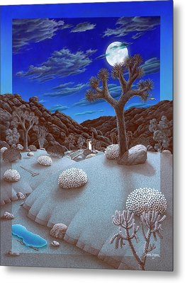 Joshua Tree At Night Metal Print by Snake Jagger