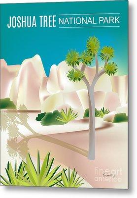 Joshua Tree National Park Vertical Scene Metal Print