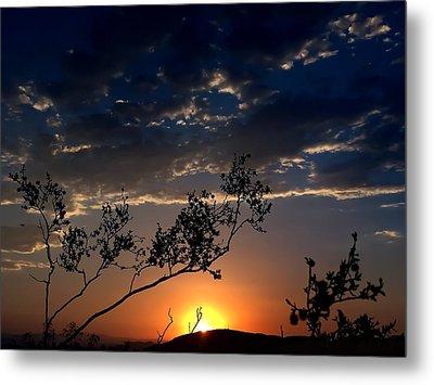 Joshua Tree Sunset Metal Print by Chris Tarpening