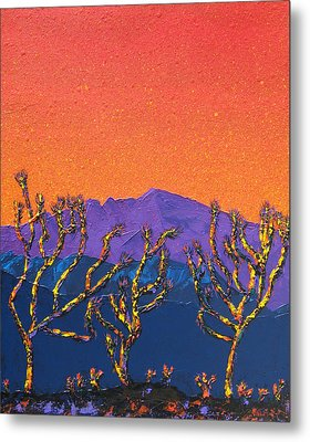 Joshua Trees Metal Print by Mayhem Mediums