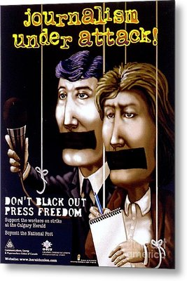 Journalism Under Attack Metal Print by Armand Roy