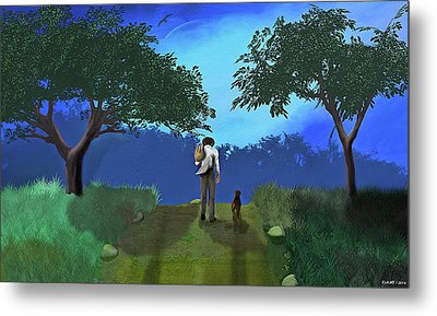 Journey From Desparation To Hope Metal Print