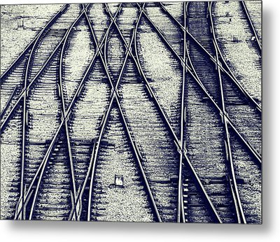 Journey Marks Metal Print