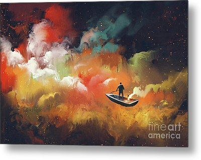 Journey To Outer Space Metal Print