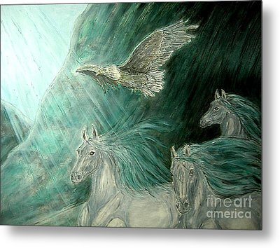 Journeyscape-out Of Darkness Metal Print