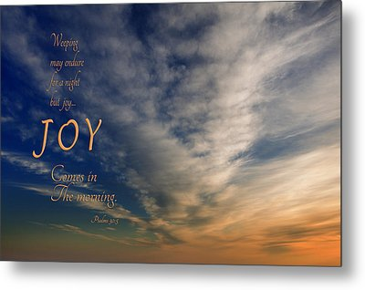 Joy Comes In The Morning Metal Print by Mary Jo Allen