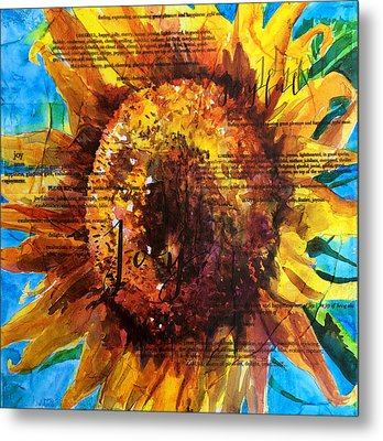 Joy - Sunflower Metal Print by Trish McKinney