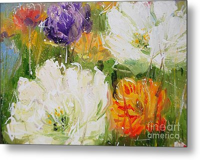 Joy With Tulips Metal Print