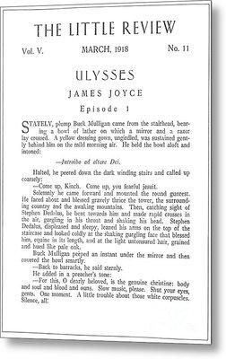 Joyce: Ulysses, 1918 Metal Print by Granger