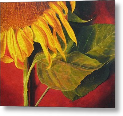 Joy's Sunflower Metal Print