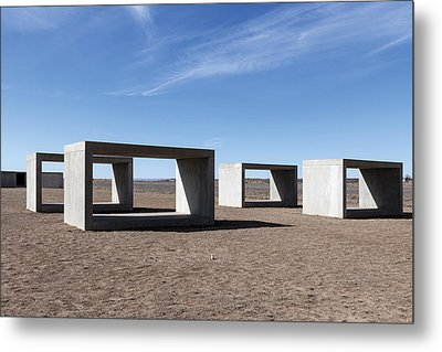 Judd's Cubes By Donald Judd In Marfa Metal Print