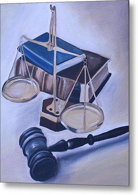 Judge Scales Metal Print by Mikayla Ziegler
