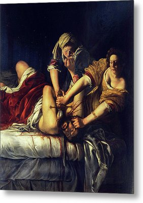 Judith Beheading Holofernes Metal Print by Artemisia Gentileschi