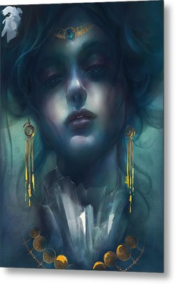 Metal Print featuring the digital art Judith V1 by Te Hu
