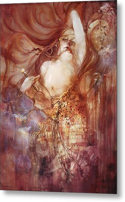 Metal Print featuring the digital art Judith V2 by Te Hu