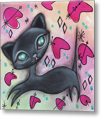 Judy Cat Metal Print by Abril Andrade Griffith